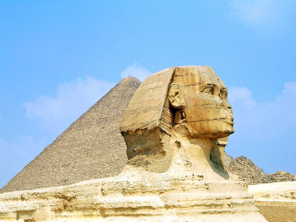 Egito - Gizé - Esfinge e Pirâmide