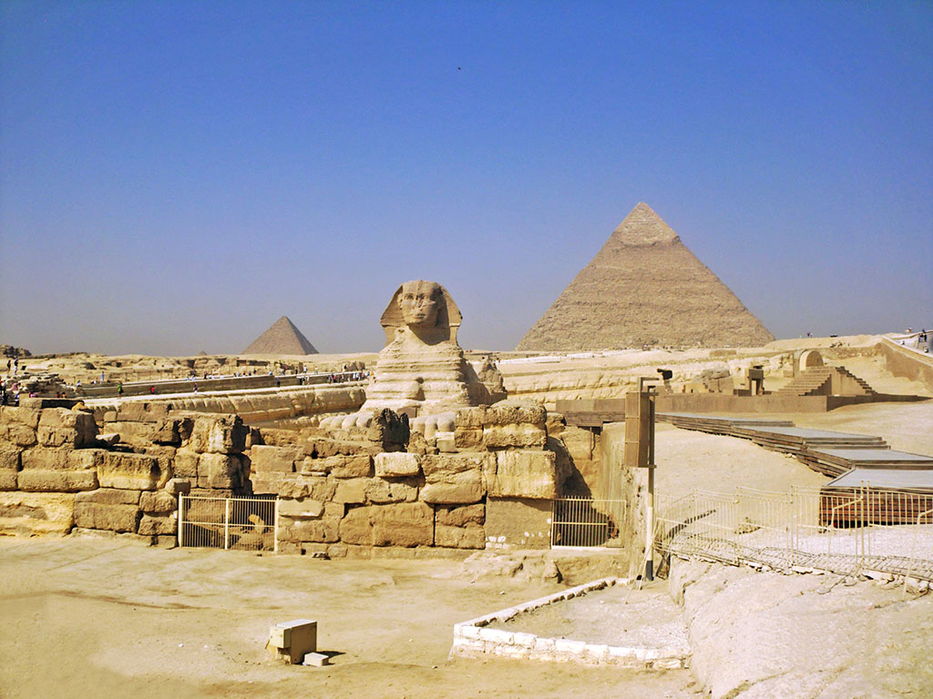 Egito - Gizé - Esfinge e Pirâmides