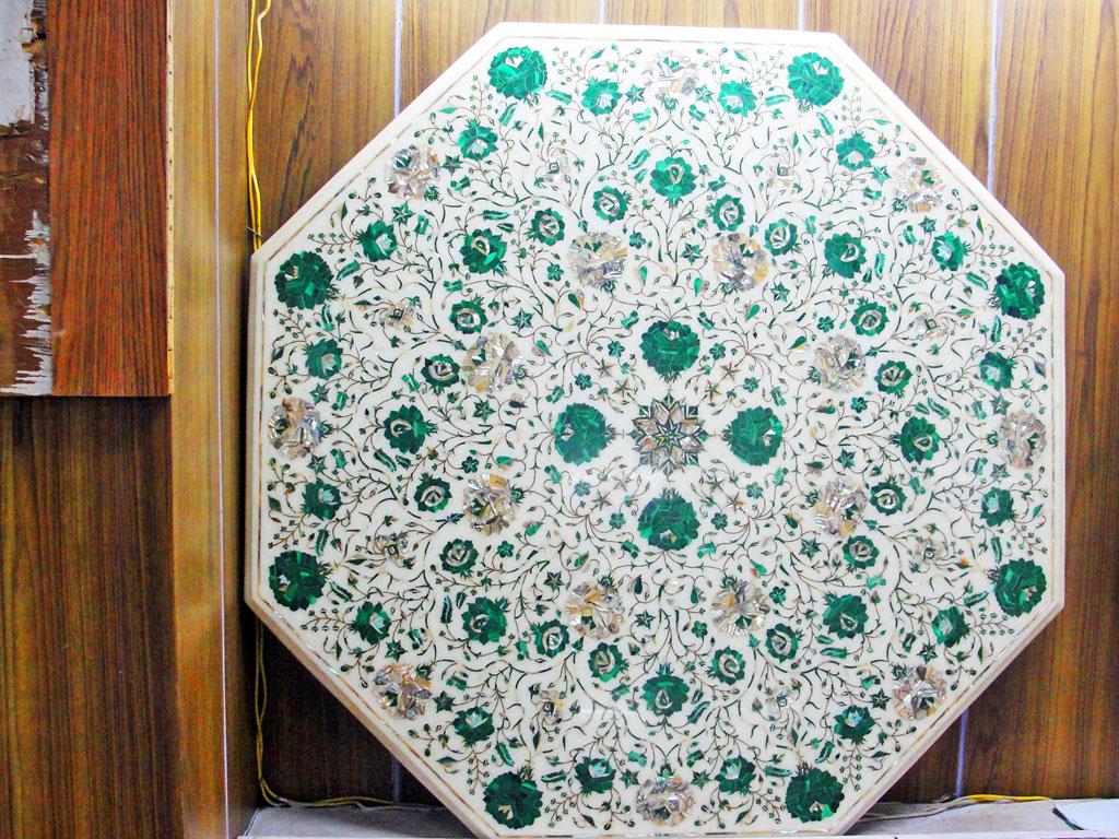 Índia - Jaipur - Arte em mármore - Parchin kari